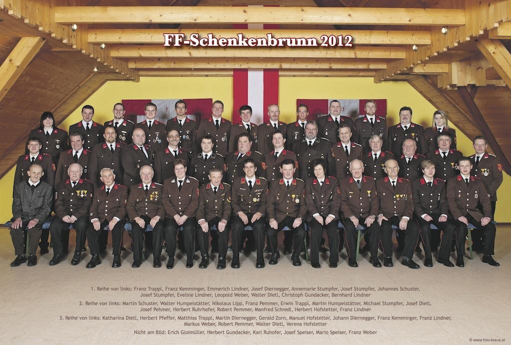 Gruppenfoto Mannschaft 2012