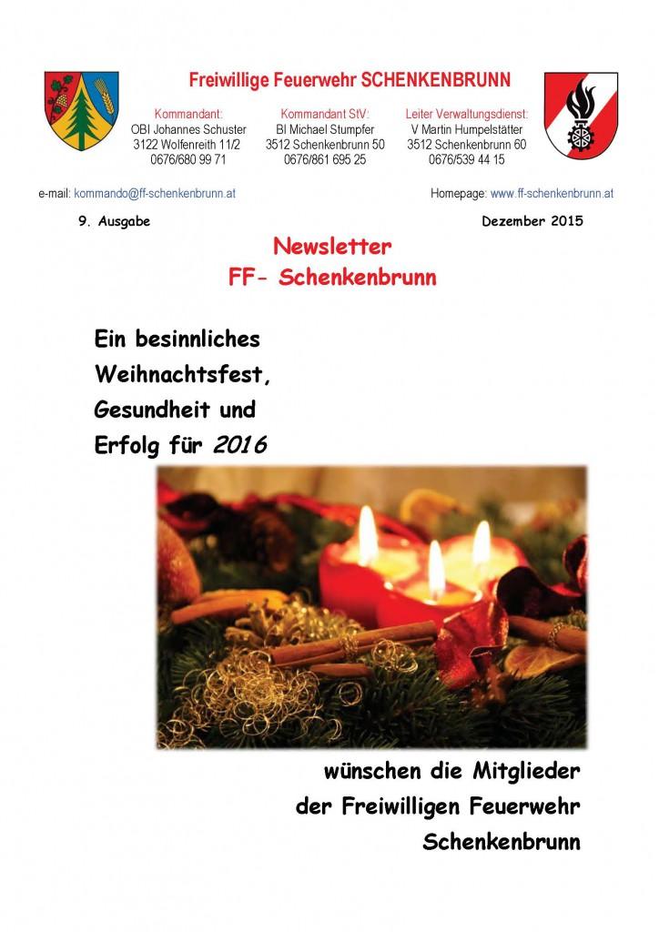 9 Ausgabe Dezember 2015 Deckblatt